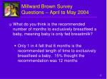 millward brown survey questions april to may 2004
