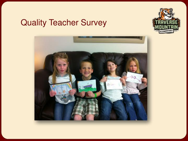 Quality Teacher Survey