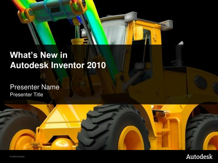 what s new in autodesk inventor 2010 n.