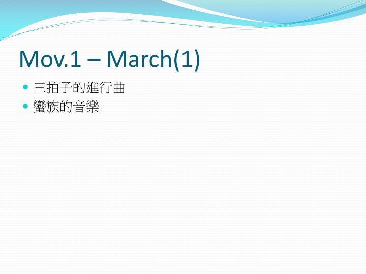 Mov.1 – March(1)