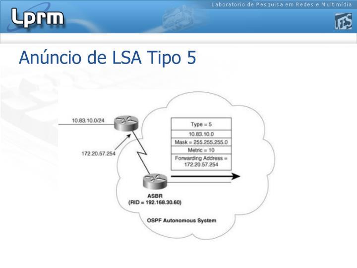 Anúncio de LSA Tipo 5