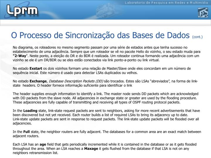 O Processo de Sincronização das Bases de Dados