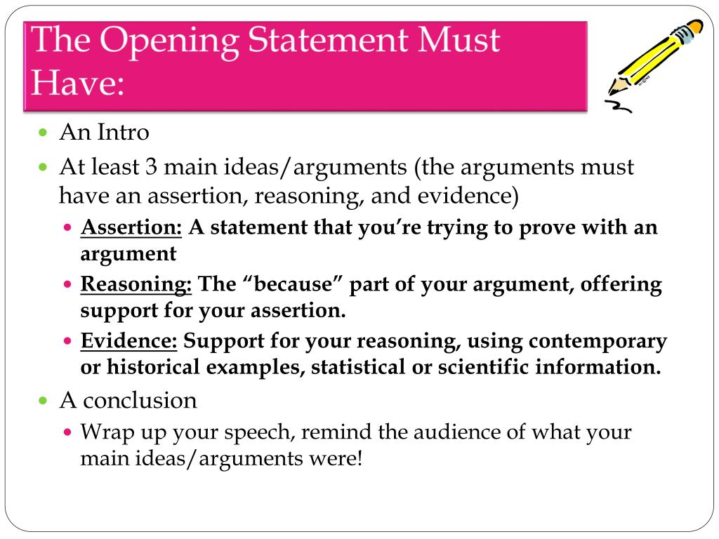 PPT - How To Write An Opening And Closing Statement
