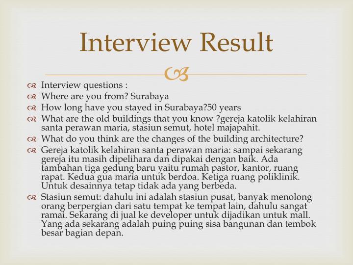 Interview Result