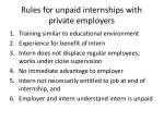 rules for unpaid internships with private employers