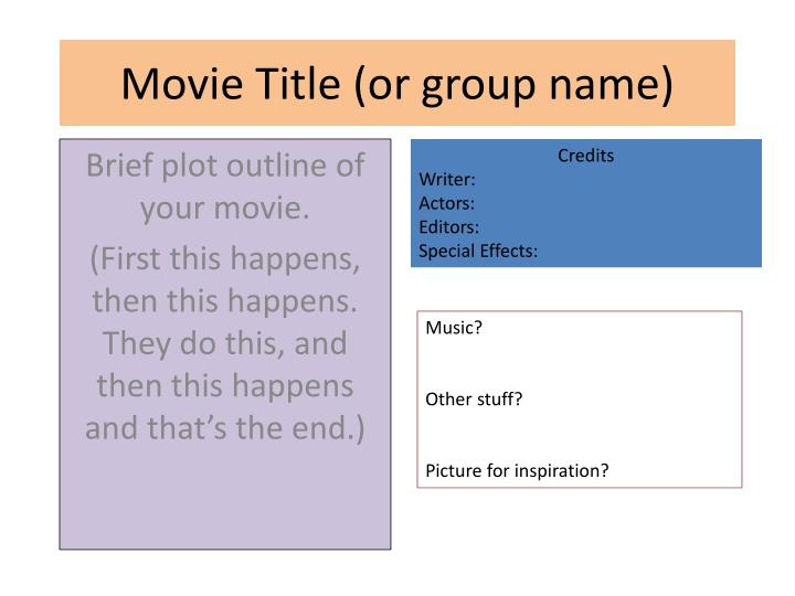 movie title or group name n.