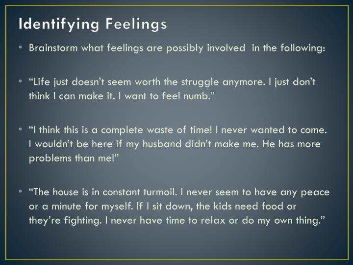 Identifying Feelings