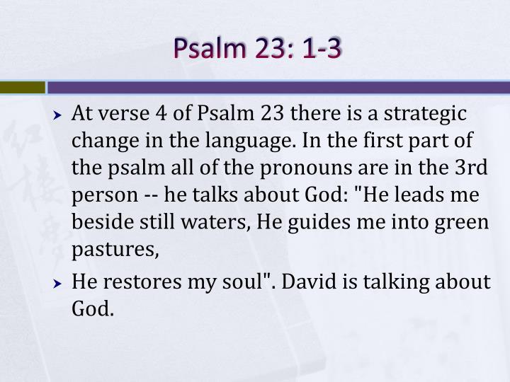 Psalm 23: 1-3