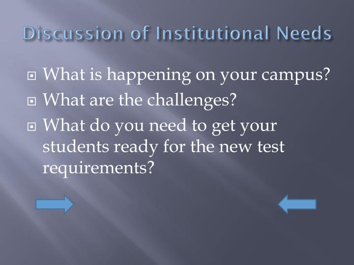 Discussion of Institutional