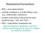 realizations connections