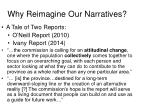 why reimagine our narratives