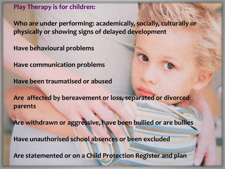 play therapy theories children and young people essay The masters in play therapy course is accredited by the british association of play therapists (bapt) and working with children and their families advanced play therapy theory and skills a minimum of five years experience working face to face with children, young people and their families.
