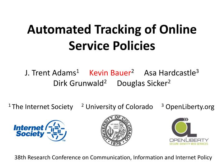 automated tracking of online service policies n.