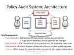 policy audit system architecture