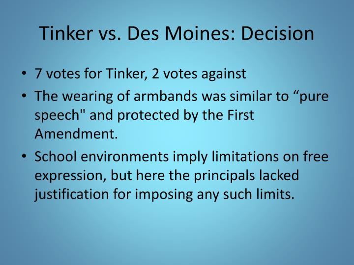 tinker sixth v des moines ruling
