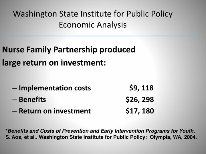 Washington State Institute for Public Policy Economic Analysis