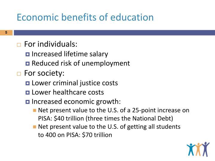 Economic benefits of education