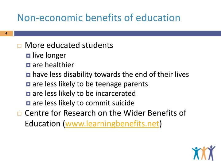 Non-economic benefits of education