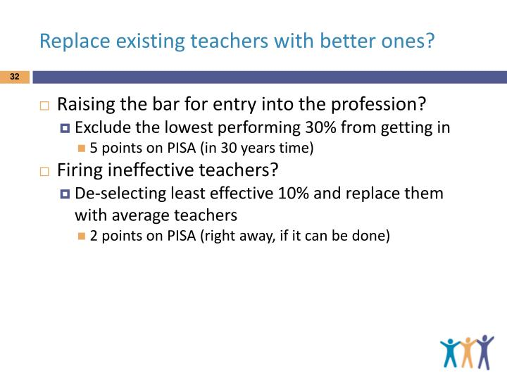 Replace existing teachers with better ones?