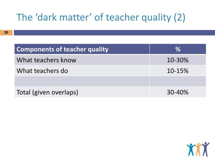 The 'dark matter' of teacher quality (2)
