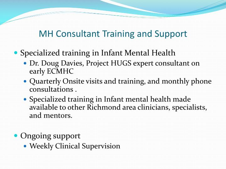 MH Consultant Training and Support