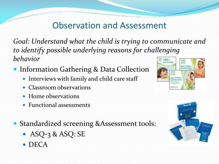 Observation and Assessment