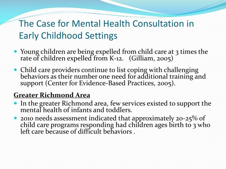 The Case for Mental Health Consultation in