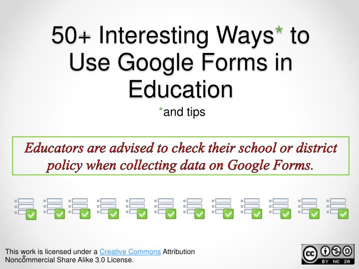 ppt 50 interesting ways to use google forms in education