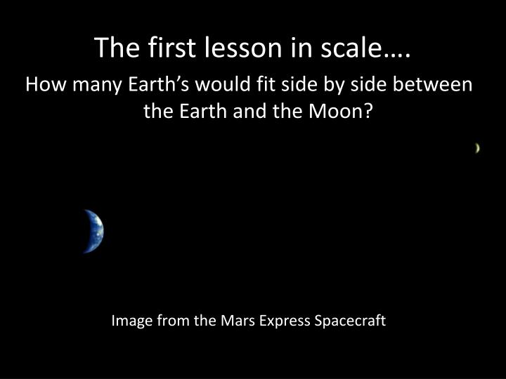 The first lesson in scale