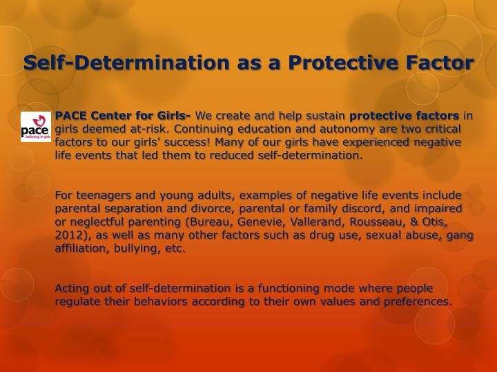 Self-Determination as a Protective Factor