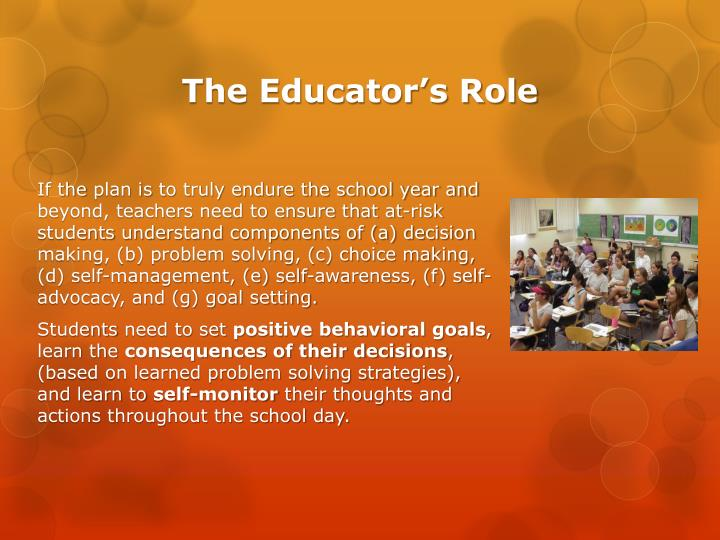 The Educator's Role