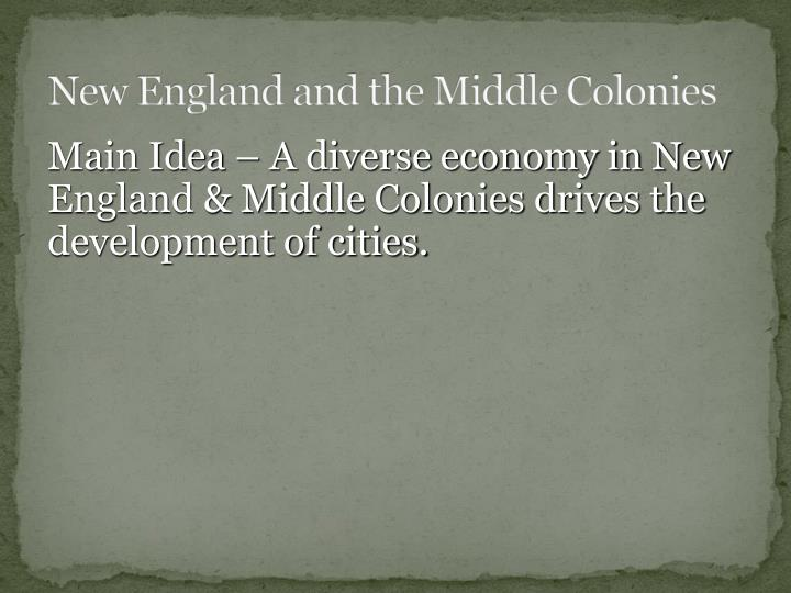 new england and the middle colonies n.