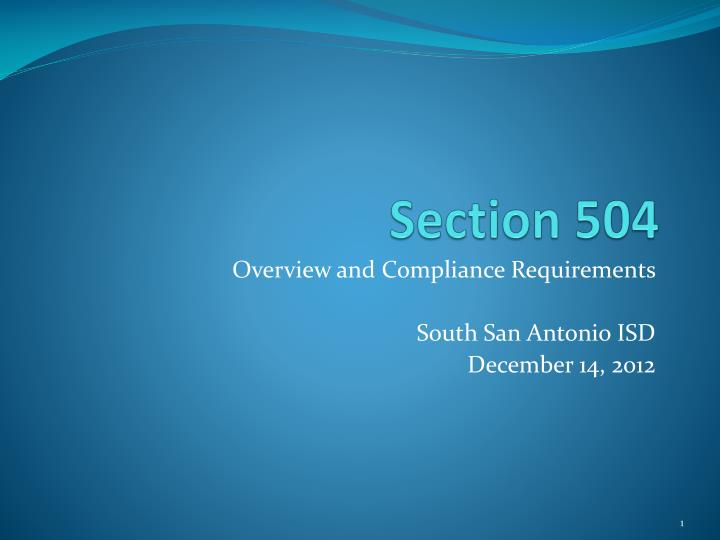 section 504 n.