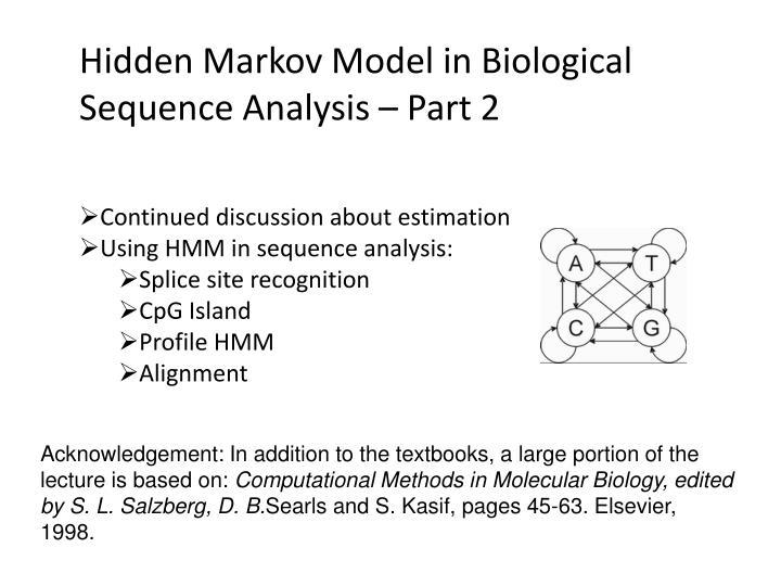 markov analysis These procedures, which we will call markov network analysis, are directly applicable to modeling change from longitudinal or serial data in such cases, the parameters of the model have dynamic.