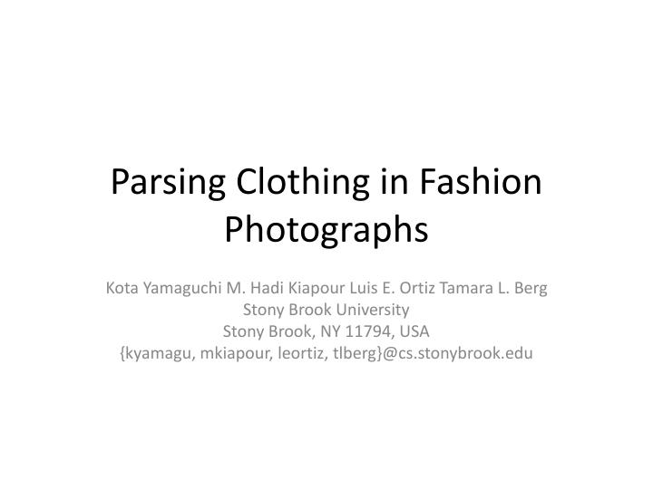 parsing clothing in fashion photographs