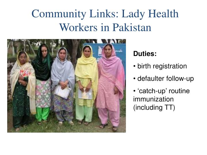 Community Links: Lady Health Workers in Pakistan