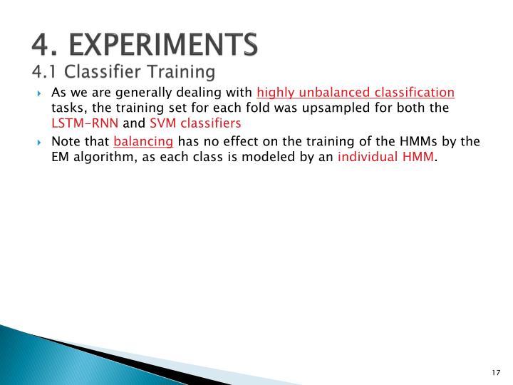 4. EXPERIMENTS