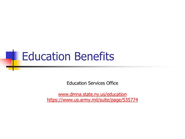 a report on the benefits of education Va education benefits may be used toward traditional degrees, non-college degrees, on-the-job training, apprenticeships, licensing and certification and fees to cover tests va also provides assistance to help veterans transition from military service to civilian employment.