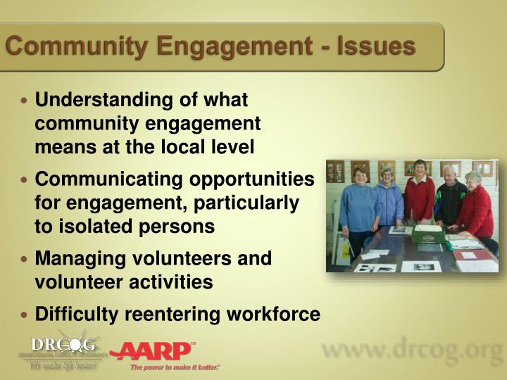 Community Engagement - Issues