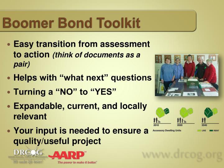 Boomer Bond Toolkit