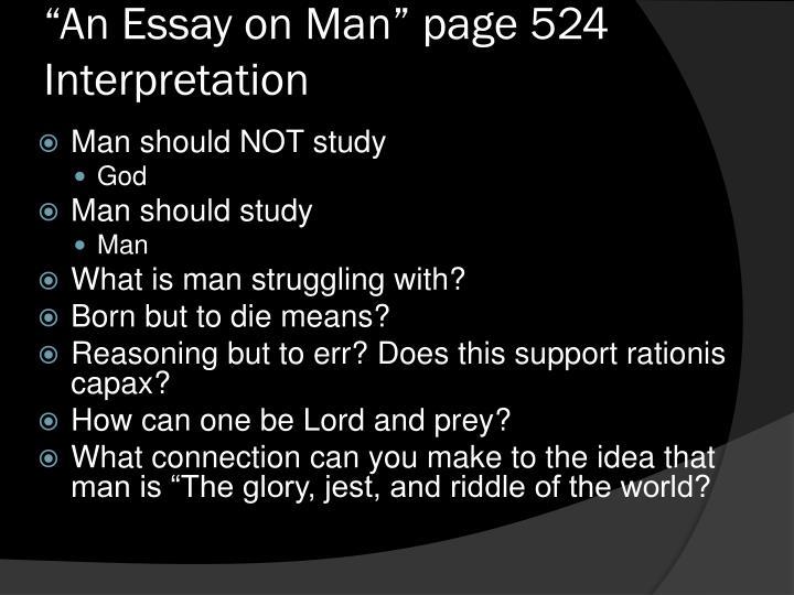 """An Essay on Man"" page 524 Interpretation"