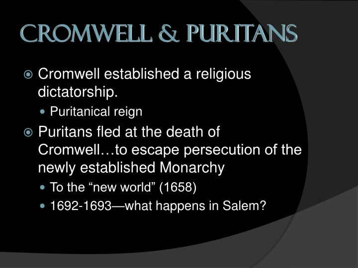 Cromwell & Puritans