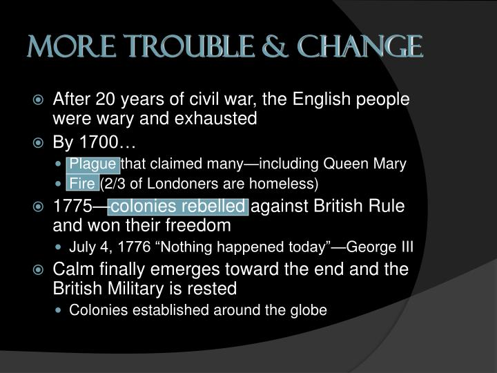 More Trouble & Change