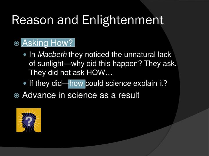 Reason and Enlightenment