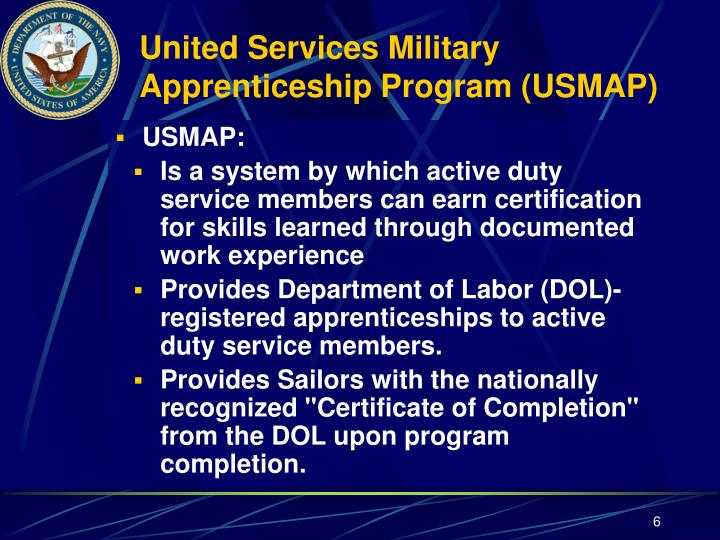 PPT First Class Petty Officer Leadership Symposium - Us map apprenticeship program