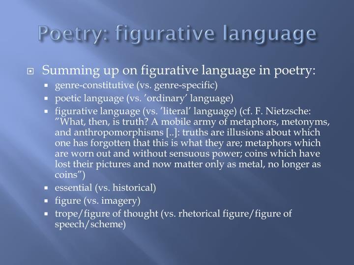 Poetry figurative language