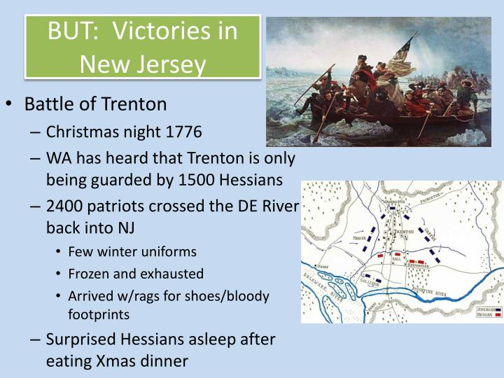 BUT:  Victories in New Jersey