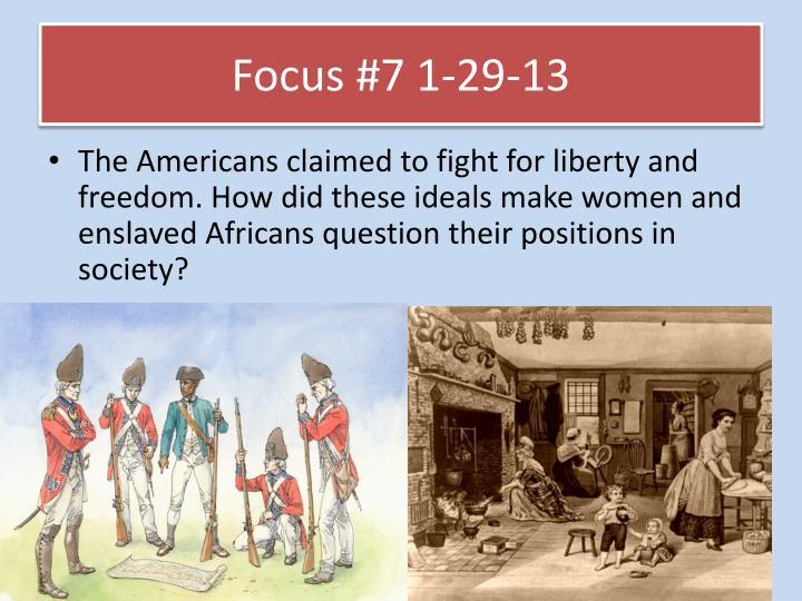 Focus #7 1-29-13