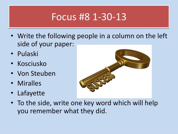 Focus #8 1-30-13