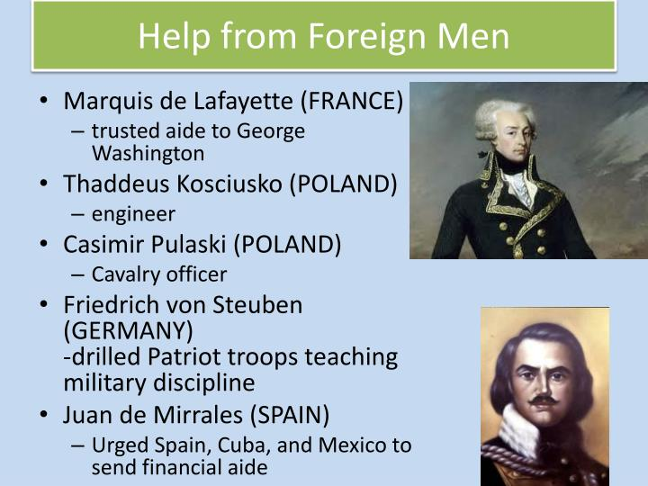 Help from Foreign Men